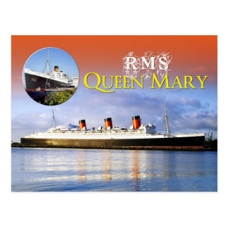 RMS Queen Mary Postcard