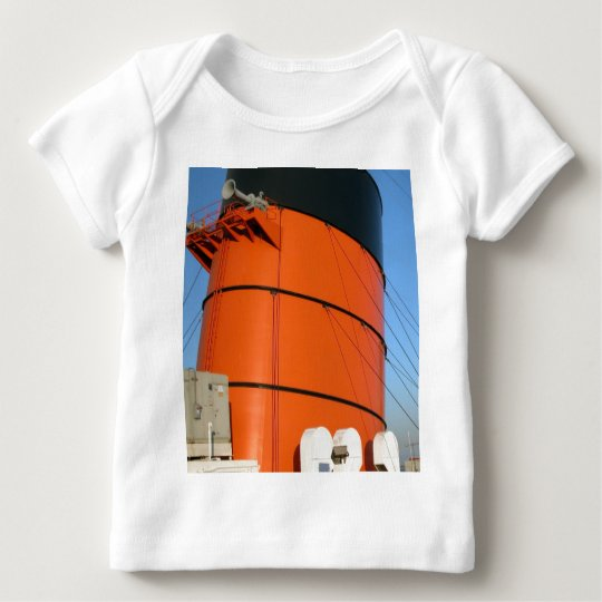 RMS Queen Mary Smoke Stack Baby T-Shirt