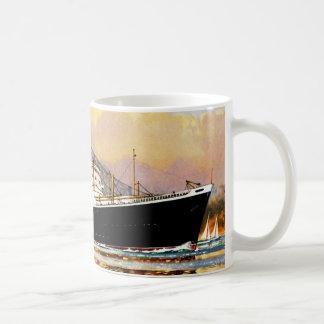 RMS Saxonia Classic White Coffee Mug
