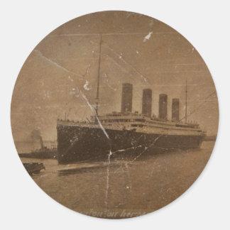 RMS Southhampton titánico Pegatina Redonda