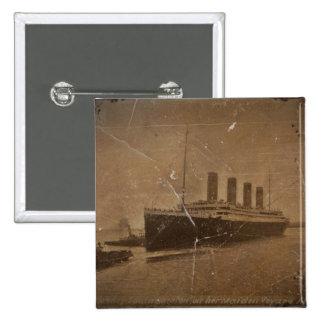 RMS Southhampton titánico Pin Cuadrada 5 Cm