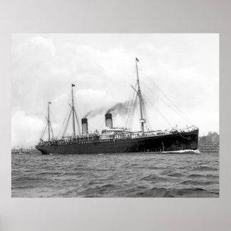 RMS Teutonic Poster