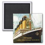 RMS Titanic 100th Anniversary 2 Inch Square Magnet