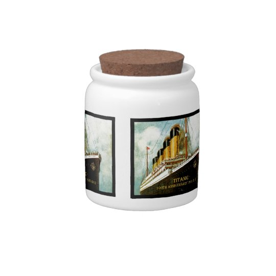 RMS Titanic 100th Anniversary Candy Jars