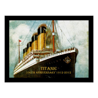 RMS Titanic 100th Anniversary Canvas Poster