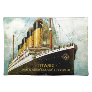 RMS Titanic 100th Anniversary Placemat Cloth Place Mat