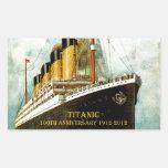 RMS Titanic 100th Anniversary Rectangular Sticker