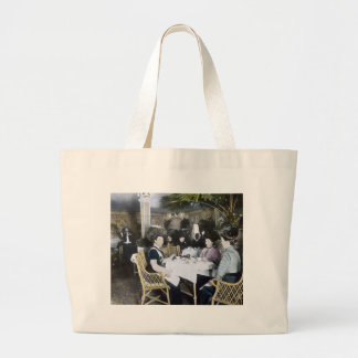 RMS Titanic 1st Class Passengers Enjoy Luxury Large Tote Bag
