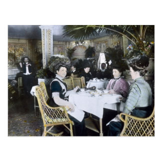 RMS Titanic 1st Class Passengers Enjoy Luxury Postcard