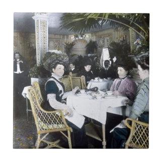 RMS Titanic 1st Class Passengers Enjoy Luxury Tile