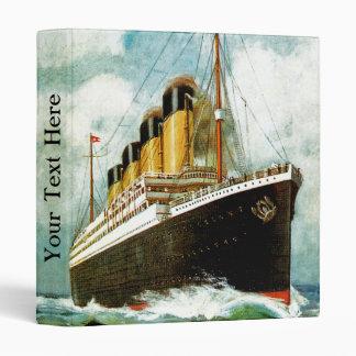 RMS Titanic 3 Ring Binder