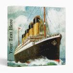 RMS Titanic 3 Ring Binders