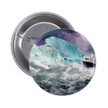 RMS Titanic and Iceberg Painting Button
