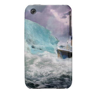 RMS Titanic and Iceberg Painting Case-Mate iPhone 3 Cases