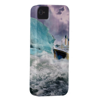 RMS Titanic and Iceberg Painting iPhone 4 Case-Mate Case