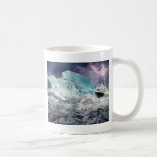 RMS Titanic and Iceberg Painting Classic White Coffee Mug