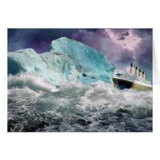 RMS Titanic and Iceberg Painting Greeting Card