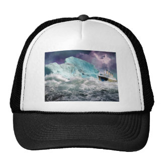 RMS Titanic and Iceberg Painting Hat