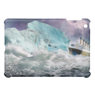 RMS Titanic and Iceberg Painting iPad Mini Cover