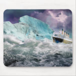 RMS Titanic and Iceberg Painting Mousepads