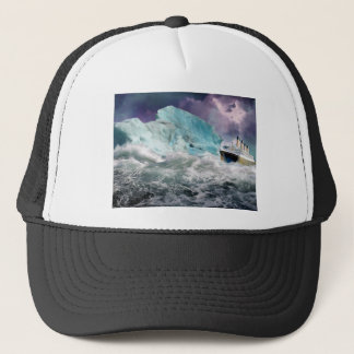 RMS Titanic and Iceberg Painting Trucker Hat