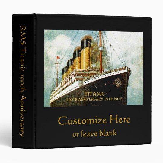RMS Titanic Anniversary Binder