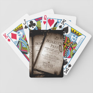 RMS Titanic Boarding Passes Bicycle Playing Cards