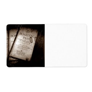 RMS Titanic Boarding Passes Label