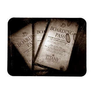 RMS Titanic Boarding Passes Magnet