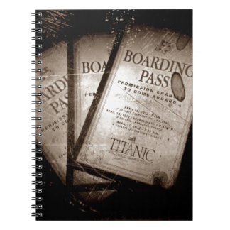 RMS Titanic Boarding Passes Notebook