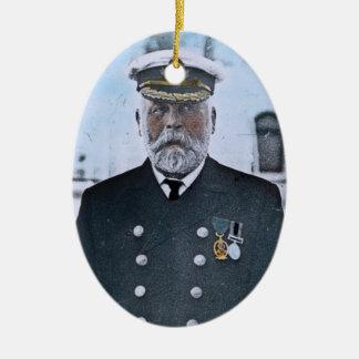 RMS Titanic Captain Edward J. Smith Ceramic Ornament