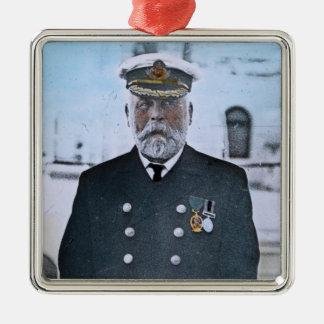 RMS Titanic Captain Edward J. Smith Metal Ornament