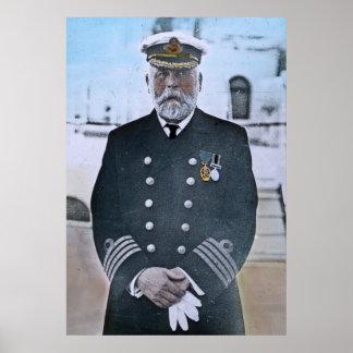 RMS Titanic Captain Edward J. Smith Poster