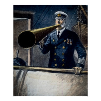 RMS Titanic Captain Smith's Last Instructions Poster