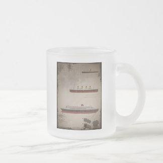 RMS Titanic Carpathia and Mary Frosted Glass Coffee Mug
