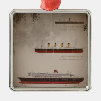 RMS Titanic Carpathia and Mary Metal Ornament