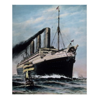 RMS Titanic Contemporary SS Imperator Vintage Poster