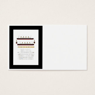 RMS Titanic Drawing and Diagram Business Card