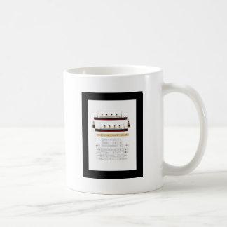 RMS Titanic Drawing and Diagram Classic White Coffee Mug