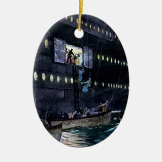 RMS Titanic Escape to the Lifeboats Quickly! Ceramic Ornament