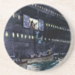 RMS Titanic Escape to the Lifeboats Quickly! Drink Coaster