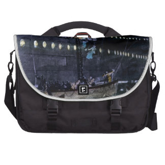 RMS Titanic Escape to the Lifeboats Quickly! Laptop Bags