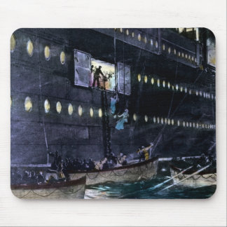 RMS Titanic Escape to the Lifeboats Quickly! Mouse Pads