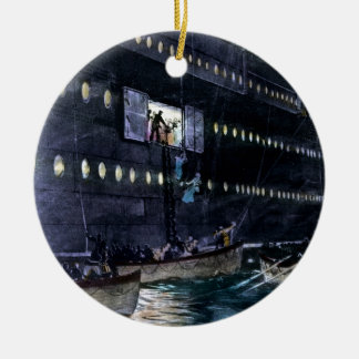 RMS Titanic Escape to the Lifeboats Quickly! Ornament