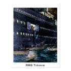 RMS Titanic Escape to the Lifeboats Quickly! Postcard