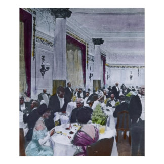 RMS Titanic Grand Dining Room Vintage Poster