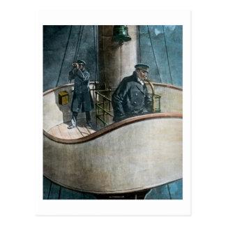 RMS Titanic Iceberg Ahead! Vintage Magic Lantern Postcard