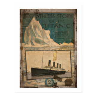 RMS Titanic Illustrated Narrative Postcard