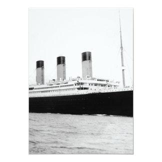 RMS Titanic 5x7 Paper Invitation Card