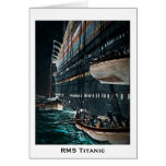 RMS Titanic Launching of the Lifeboats Vintage Greeting Card